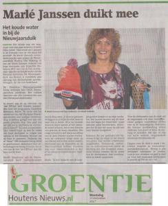 Groentje Marle Janssen 13 dec 2017 Nieuwjaarsduik
