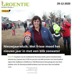 Marle Janssen Deelname nieuwjaarsduik 2021 Houten Houtens Nieuws 29-12-2020